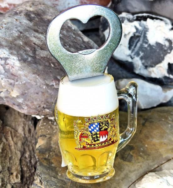 Bierkrug-Magnet, Flaschenöffner