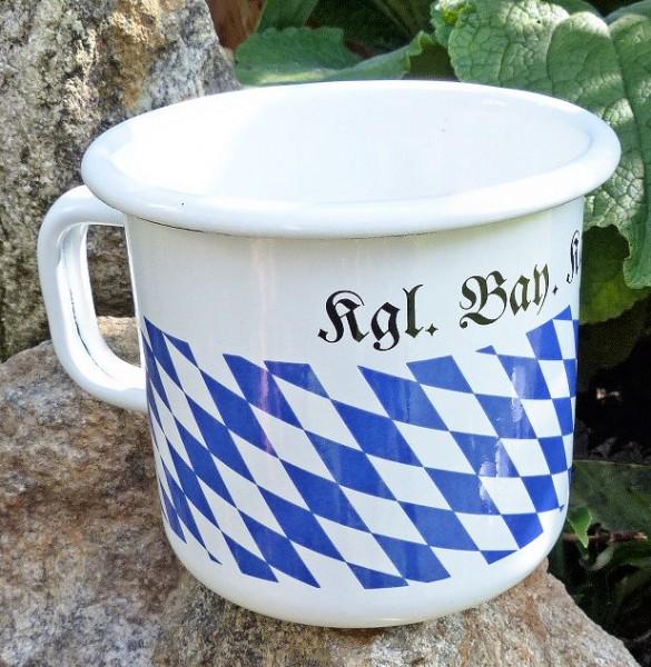 Emaille-Kaffeebecher, Raute
