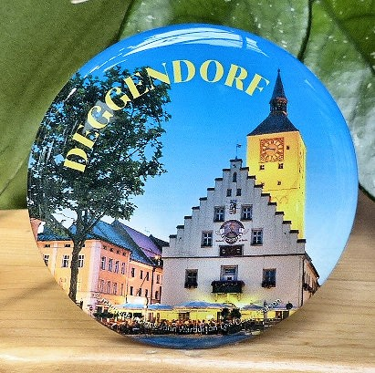 Bildmagnet rund, Rathaus Deggendorf