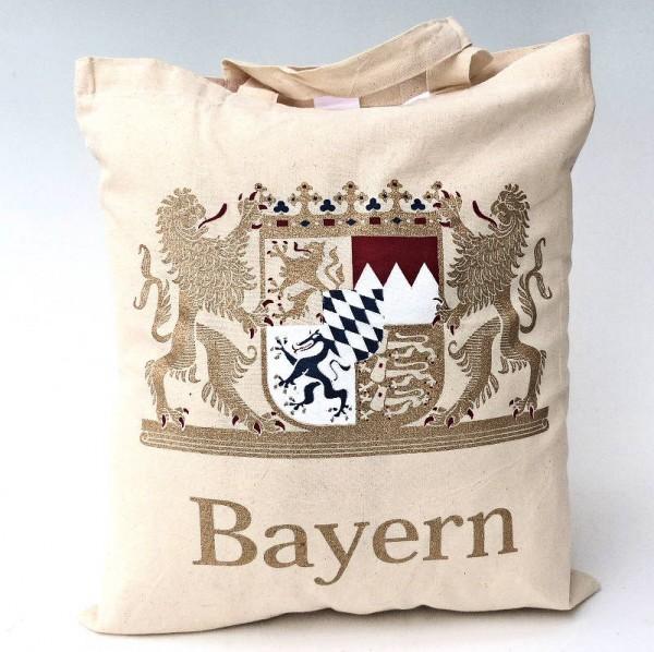 Baumwolltasche mit Golddruck, Bayern