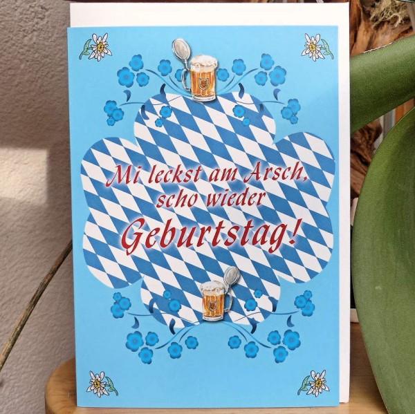 leckst am Arsch, Geburtstagskarte
