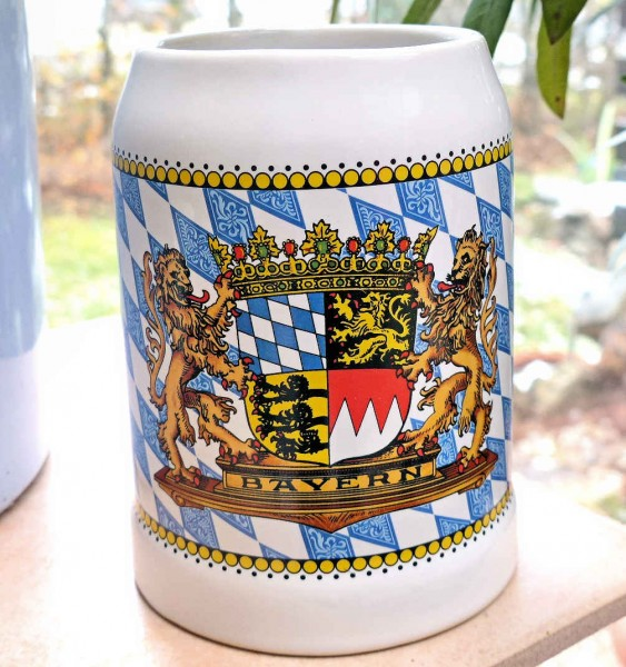 Bierkrug 0,5L Bayernraute