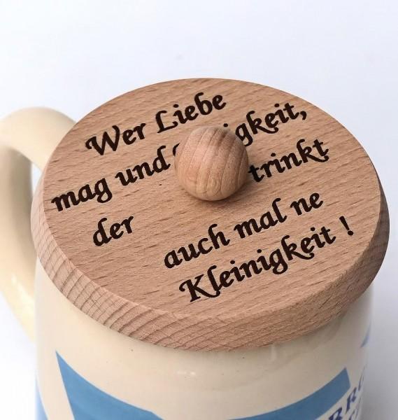 Bierglasdeckel, Wer Liebe mag...