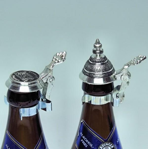 Flaschen-Zinndeckel, Spitzdeckel
